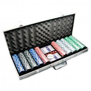 Набор для игры в покер на 500 фишек с номиналом