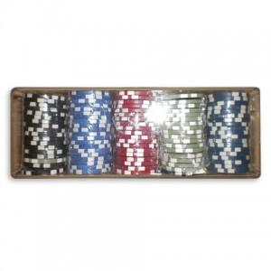 Фишки для покера керамические 100 шт с номиналом