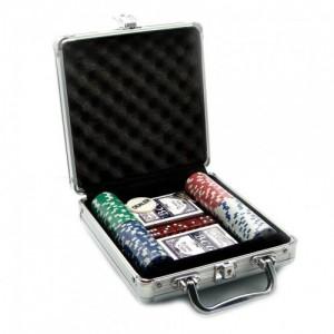 Набор для игры в покер на 100 керамических фишек