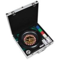 Набор для покера + рулетка в металлической коробке