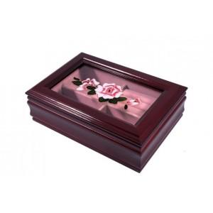 Шкатулка из дерева для украшений «Роза»