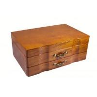 Деревянная шкатулка - комодик для украшений, два яруса «Азель»