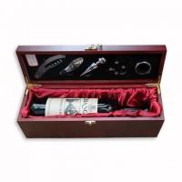 Набор для вина в деревянном футляре 5 предметов на одну бутылку