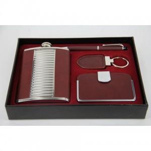 Фляга, набор с флягой 8 унций+ ручка+ визитница+ брелок