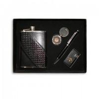 Фляга, набор с флягой (фляга 8унц+брелок+ручка+зажигалка)