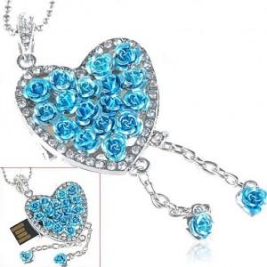Сувенирные флешки в форме сердечка