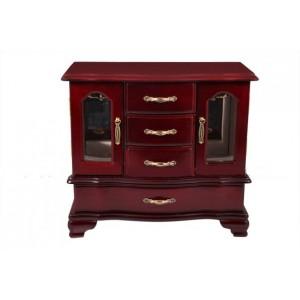 Деревянная шкатулка - шкафчик для украшений «Виолета»