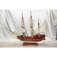 Деревянная модель парусника 90см- 60