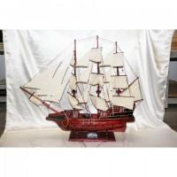 Деревянная модель парусника 90см-808