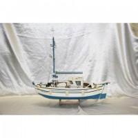 Деревянная модель парусника 80см-652