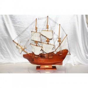 Деревянная модель корабля 80см- 81