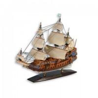 Деревянная модель корабля 45см-С06