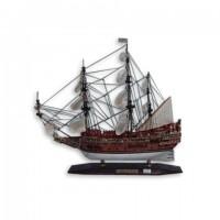 Деревянная модель корабля 45см-С07