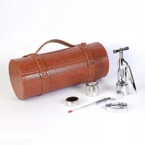 Винный набор в коричневом кожаном тубусе 5 предметов