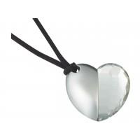 Флешка сердечко с кристаллом «Чистая любовь»