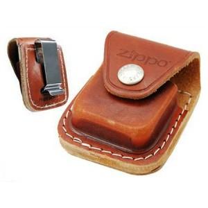 Чехол Zippo LPCB коричневый с клипом
