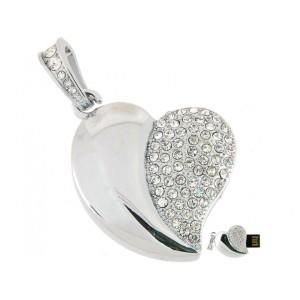 Флешка кулон в форме сердечка