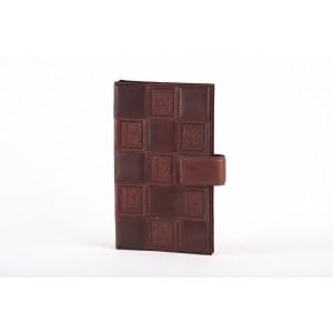 Визитница из кожи незабудка на 160 карточек