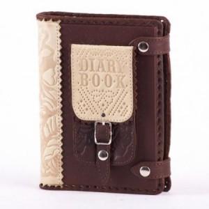 Блокнот (ежедневник), декорированный натуральной кожей