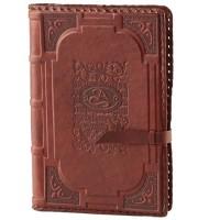 Ежедневник (блокнот), декорированный натуральной кожей