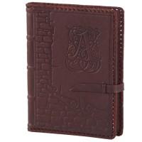 Ежедневник (блокнот), кожаная обложка