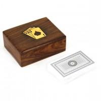 Карты в деревянном футляре