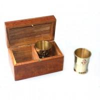 Набор 2 стакана в деревяной коробке