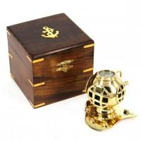 Шлем акванавта в деревяной коробке