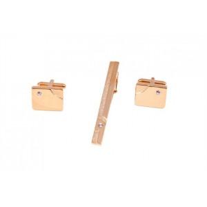 Запонки и зажим для галстука (набор, мужские) S.Quire, модель EG-06719
