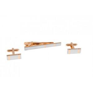 Запонки и зажим для галстука (набор, мужские) S.Quire, модель EG-06722
