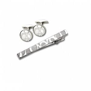 Запонки и зажим для галстука (набор, мужские) S.Quire, модель EG-16466
