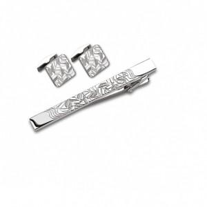Запонки и зажим для галстука (набор, мужские) S.Quire, модель EG-16468