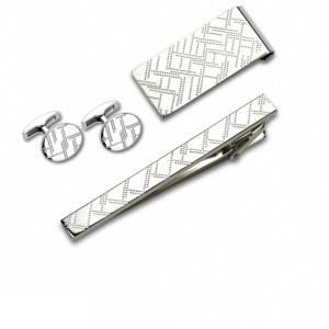 Запонки и зажим для галстука (набор, мужские) S.Quire, модель EG-16469