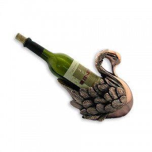 Статуэтка подставка под бутылку лебедь