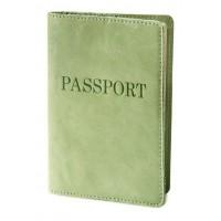 """Для паспорта обложка (фисташковый) тиснение """"PASSPORT"""""""