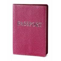 """Паспорт обложка (розовый) тиснение серебром """"PASSPORT"""""""