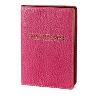 """Обложка для паспорта  (розовый) тиснение золотом """"ПАСПОРТ"""""""
