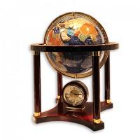 Глобус из оникса з часами
